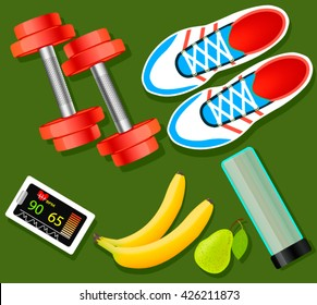 Vector set of fitness tools