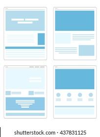 Vektorset mit flachen Webseitenvorlagen
