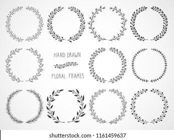 Couronne De Fleur Stock Illustrations Images Vectors Shutterstock