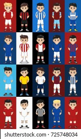 Vector Set Football / Soccer Team Home Kit for English Premier League