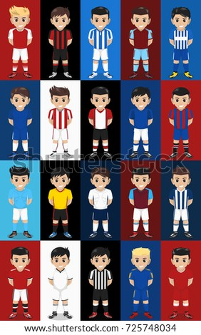 Vector Set Football Soccer