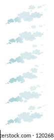 Vector set of frame images of the exhaust gas for 2-d animation
