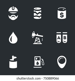 Vector Set of Geology and Oil Icons.