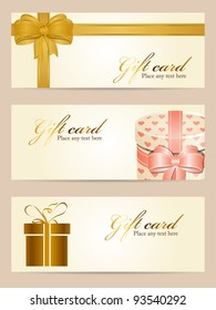 Vector set of gift cards