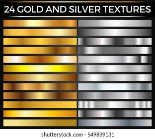 1c089b143ee3 Vector Set of Gold and Silver Gradients