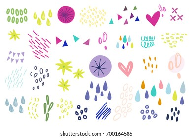 Vector set of graphic elements.