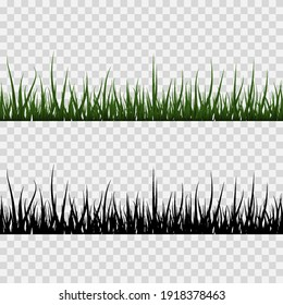 Vector set of grass, lawn. Bunches of grass png, lawn png. Young green grass.