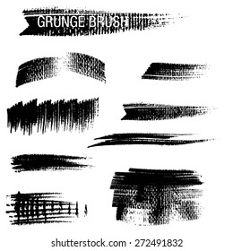 Vector set of grunge brush strokes 27