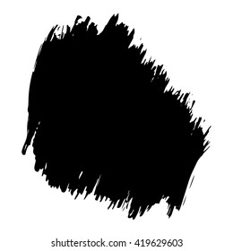 Vector set of grunge brush strokes. Black vector brush strokes collection. Grunge stains. Set of brushes design elements, hand drawn with ink.
