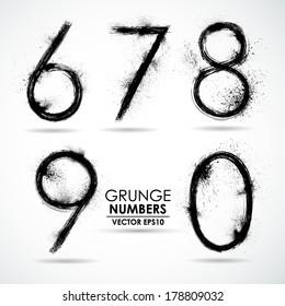 Vector set grunge number - part 2