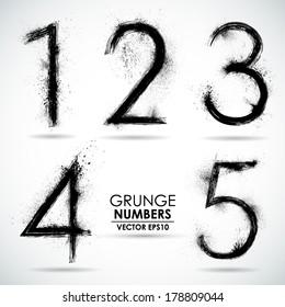 Vector set grunge number - part 1