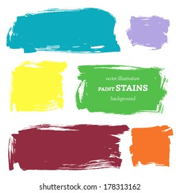 Vector set of grunge paint stains. Abstract watercolor design elements for your projects. Vector illustration/ EPS 8