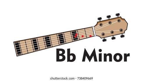 Vector Set Guitar Chord Chord Diagram Stock Vector 738420160 ...