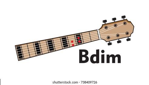 Vector Set Guitar Chord Chord Diagram Stock Vector (Royalty Free ...