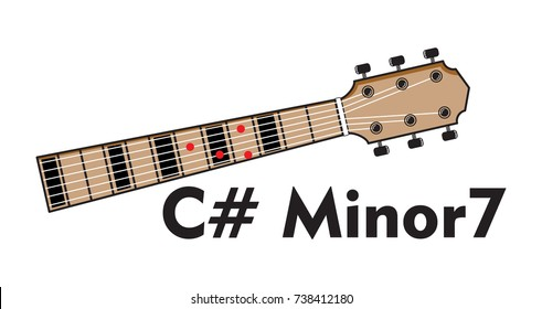 C Minor Guitar Chord Vector Illustration Stock Vector (Royalty Free ...
