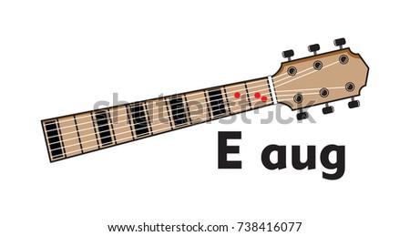 Vector Set Guitar Chord Chord Diagram Stock Vektorgrafik Lizenzfrei
