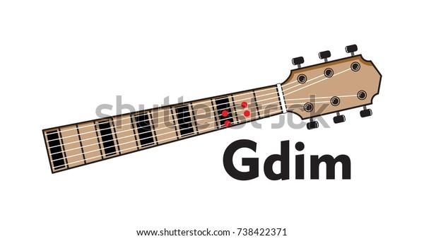 Vector Set Guitar Chord Chord Diagram Stock Vector Royalty Free 738422371