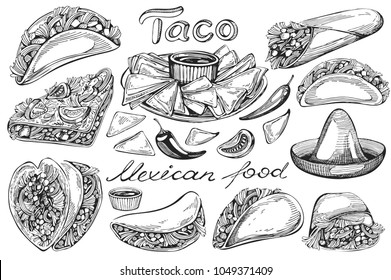 Tacos clipart coloring, Tacos coloring Transparent FREE ... |Taco Salad Coloring Pages