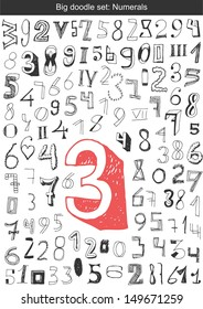 Vector set - Hand drawn numbers