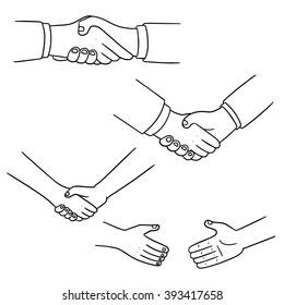 vector set of handshake