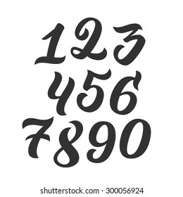 Calligraphy Numbers Images Stock Photos Vectors Shutterstock