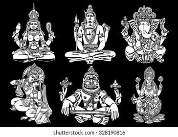 Hindu Gods Images, Stock Photos & Vectors | Shutterstock