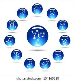 Vector set horoscope-eps10