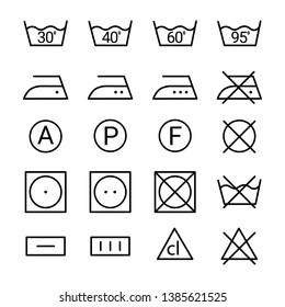 Vector set of icons for clothes and other