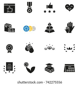 Vector set of icons related to customer relationship management, feedback, review and assessment