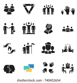 Vector set of icons related to team work, human resources, business interaction and relationship - part 3
