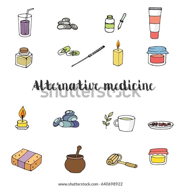 Vector Set Icons Spa Alternative Medicine Stock Vector Royalty Free 640698922