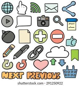 vector set of internet icon