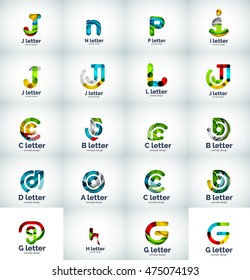 Vector set of internet letter logo icons