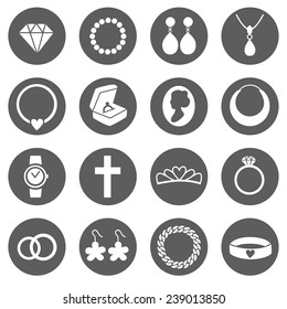 Vector Set of Jewelry Icons