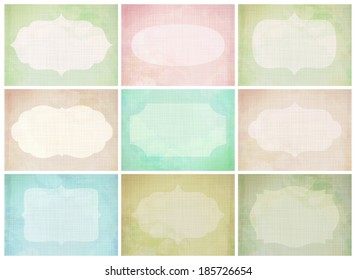 Vector set of journaling card for scrapbook and design, 3x4 size. Summer collection, part 4.