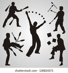 Vector set of jugglers