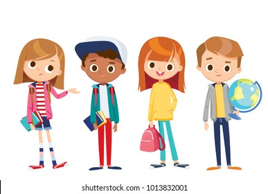 Vector set of kids