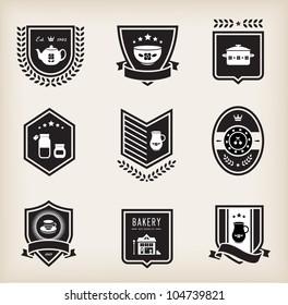 Vector set of kitchen badges