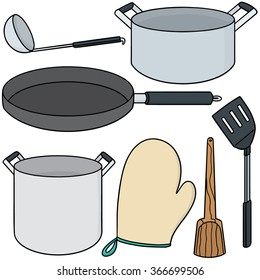 vector set of kitchen tool