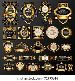 vector set of labels with gold elements