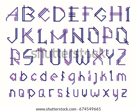 Buy Alphabet stylish of english pictures trends