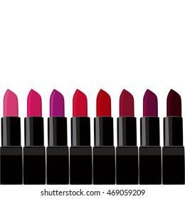 vector set of lipsticks trendy shades