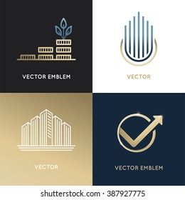 Investment logo images stock photos vectors shutterstock vector set of logo design templates and emblems business and finance concepts investment and wajeb Image collections