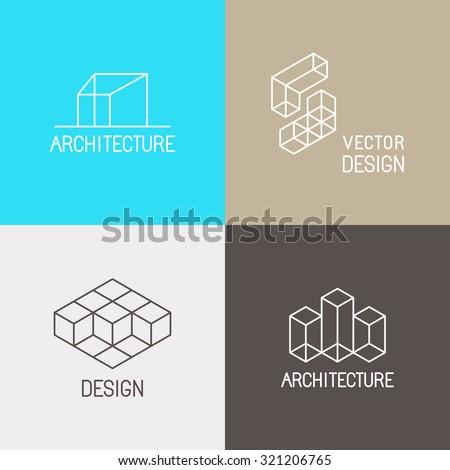vector set logo design templates simple のベクター画像素材