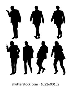 Vector set of man silhouettes