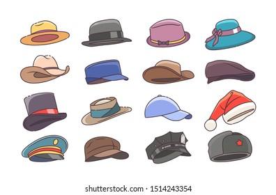 shop best sellers really comfortable wholesale Imágenes, fotos de stock y vectores sobre Types of Hats ...