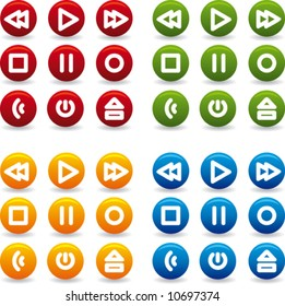 vector set of media and web icons