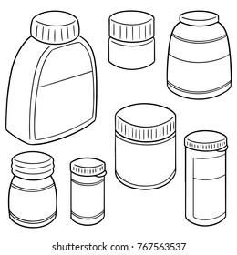 vector set of medicine bottle