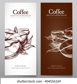 Vector set of menu for coffee. Vector flyers on the theme of coffee for cafes and restaurants.