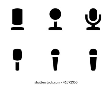 Vector set of the microphone icon. Nothing superfluous, only the essence.